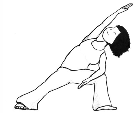 Extended Side Angle Yoga Pose-Utthita Parsvakonasana