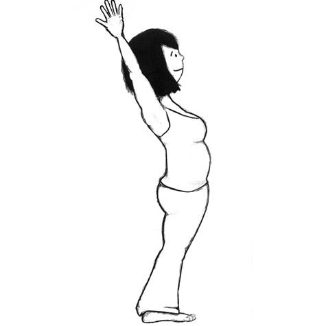 Standing Back Arch Yoga Pose-Urdhva Hastasana (variation)