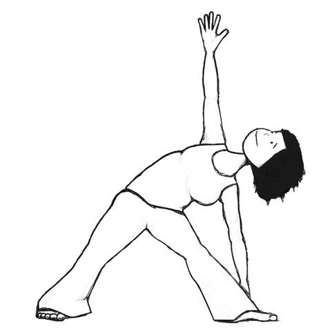 triangle yoga pose - Utthita Trikonasana